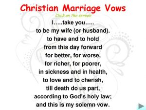 Marriage Vows And Dating